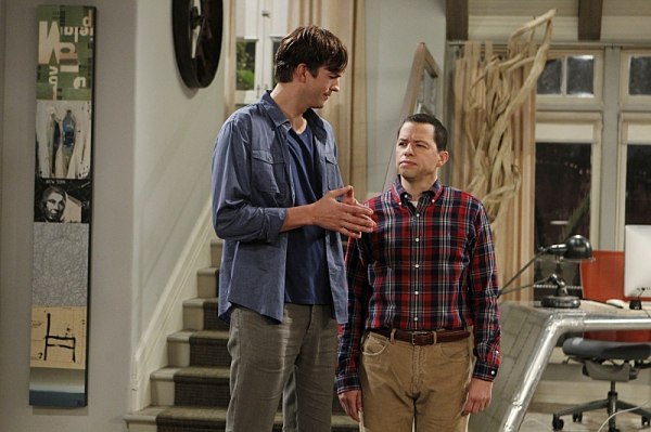 Ashton Kutcher and Jon Cryer at First Look - Miley Cyrus Guest Stars on TWO AND A HALF MEN