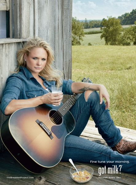 Photo Flash: Miranda Lambert Kicks off CMA Awards with New Milk Mustache Ad