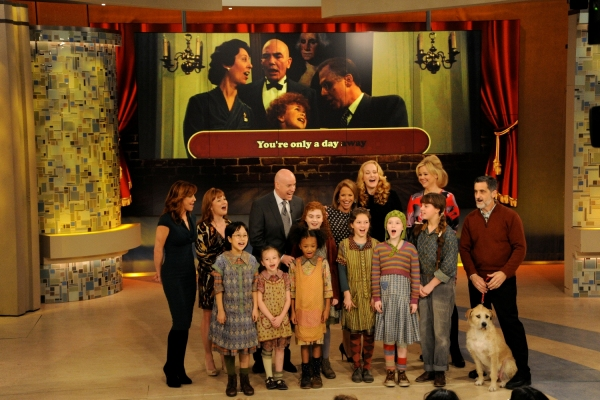 Photo Flash: Sneak Peek - Cast of Broadway's ANNIE on KATIE!