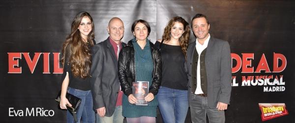 Elenco de Evil dead que no actuo: Teresa Abarca, Fernando Samper, Manoli Nieto, Carolina Moran y Fedor de Pablos