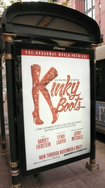 Up on the Marquee: KINKY BOOTS in Chicago