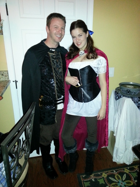 Jeff Ward and Angela Gimlin, as Prince Charming and Snow White, naturally Photo
