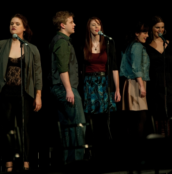 Alycia Novak, Brett Schaller, Jaclyn Serre, Julia McLellan, Tringa Rexhepi at Canadian Cast of RENT Reunites for 15th Anniversary in Support of Fife House