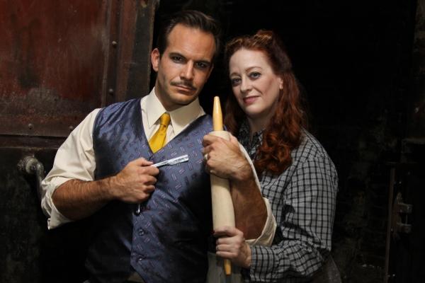 Travis Risner as Sweeney Todd and Boni McIntyre as Mrs.Lovett