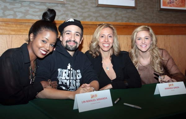 Adrienne Warren, Lin-Manuel Miranda, Amanda Green, Taylor Louderman at Lin-Manuel Miranda and BRING IT ON Cast Celebrates CD Release at Barnes & Noble!