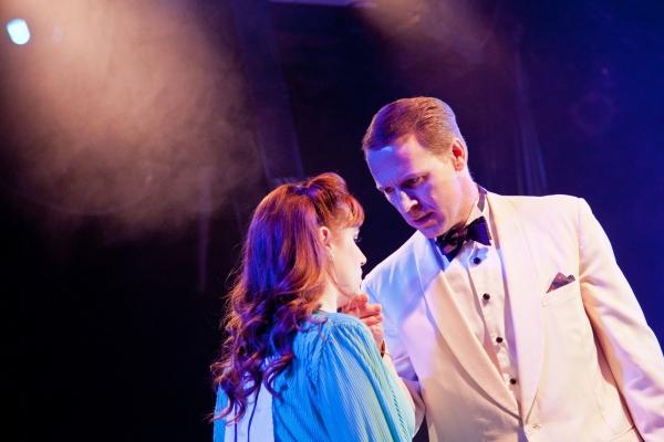 Rita Racine (Sarah Galbraith) and Mick Hamilton (Ian Knauer) Photo