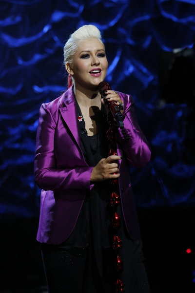 Christina Aguilera at Look Back - HURRICANE SANDY: COMING TOGETHER