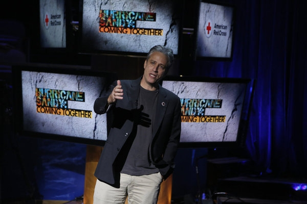 Jon Stewart at Look Back - HURRICANE SANDY: COMING TOGETHER