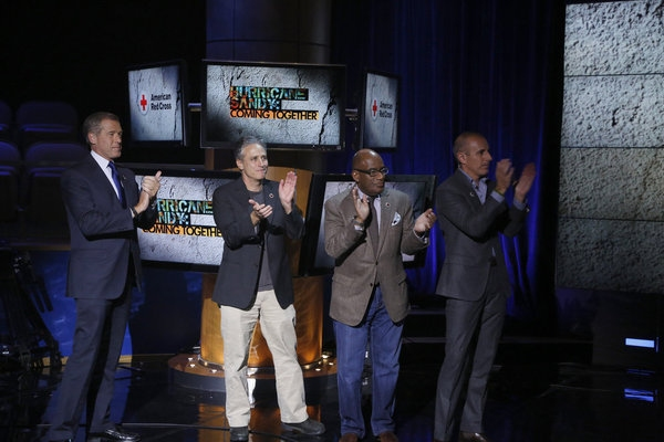 Brian Williams, Jon Stewart, Al Roker, Matt Lauer at Look Back - HURRICANE SANDY: COMING TOGETHER