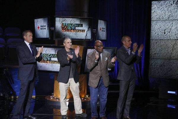 Brian Williams, Jon Stewart, Al Roker, Matt Lauer Photo