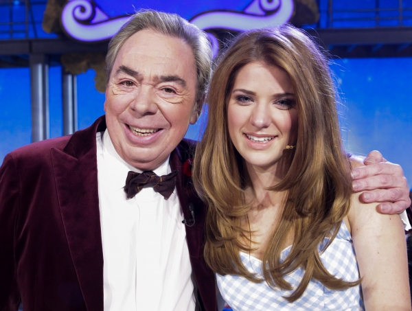 Lord Andrew Lloyd Webber and Danielle Wade at Danielle Wade Wins CBC's OVER THE RAINBOW!