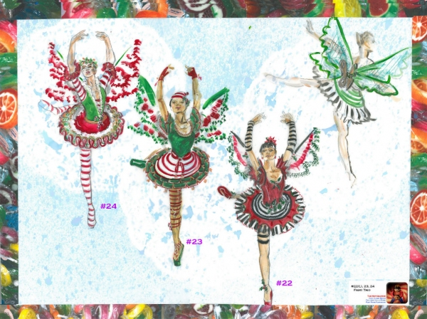 Photo Flash: Sneak Peek at Costume Sketches of Flat Rock's THE NUTCRACKER