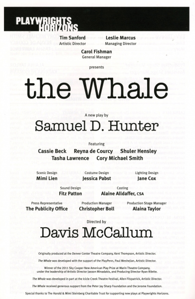 Photo Coverage: Inside THE WHALE's Opening Night Curtain Call