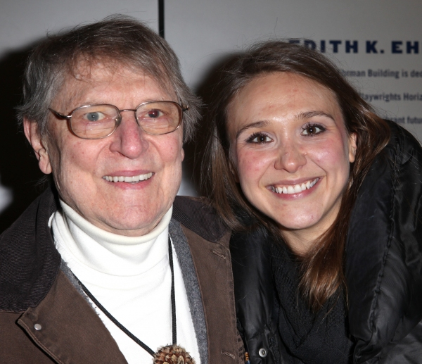 John Cullum and Sarah Sokolovic at Inside THE WHALE Opening Night- Arrivals!