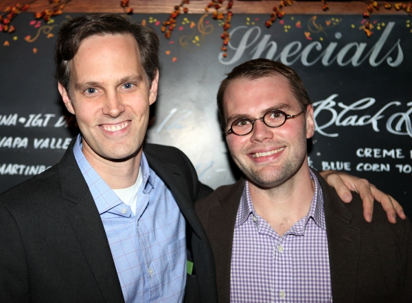Director Davis McCallum &  Playwright Samuel D. Hunter at THE WHALE's Opening After Party