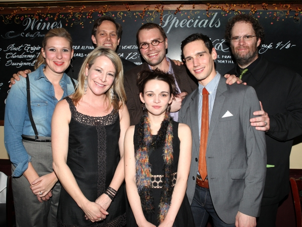 Cassie Beck, Tasha Lawrence, Davis McCallum, Samuel D. Hunter, Reyna de Courcy, Cory Michael Smith and Shuler Hensley at THE WHALE's Opening After Party