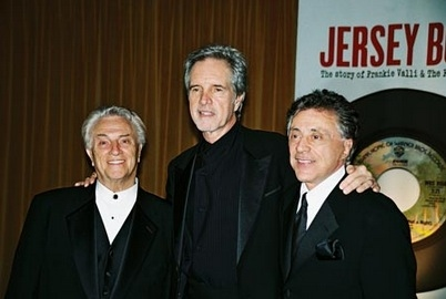 Tommy DeVito, Bob Gaudio and Frankie Valli arrive at opening night