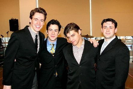First national tour cast, 2006: Erich Bergen, Christopher Kale Jones, Deven May and Michael Ingersoll