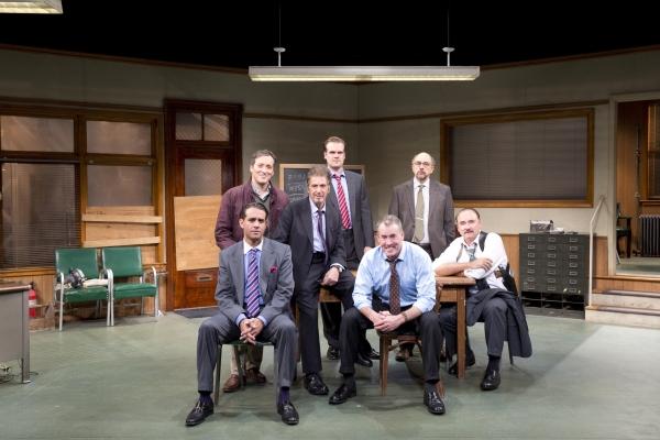 Glengarry Glen Ross Production Photo - Jeremy Shamos, David Harbour, Richards Schiff, and Murphy Guyer,  Bobby Cannavale, Al Pacino and John C. McGinley