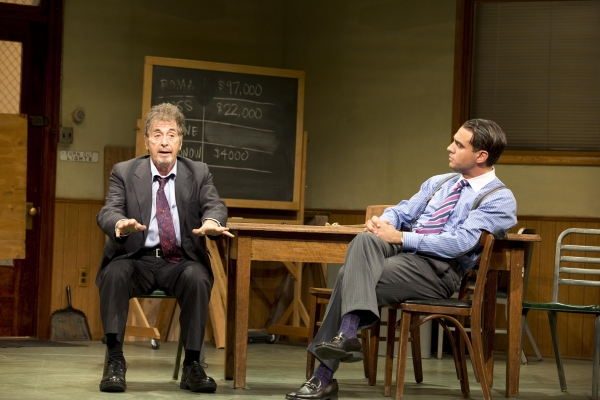 Al Pacino and Bobby Cannavale at First Look at Al Pacino, Bobby Cannavale, and More in GLENGARRY GLEN ROSS