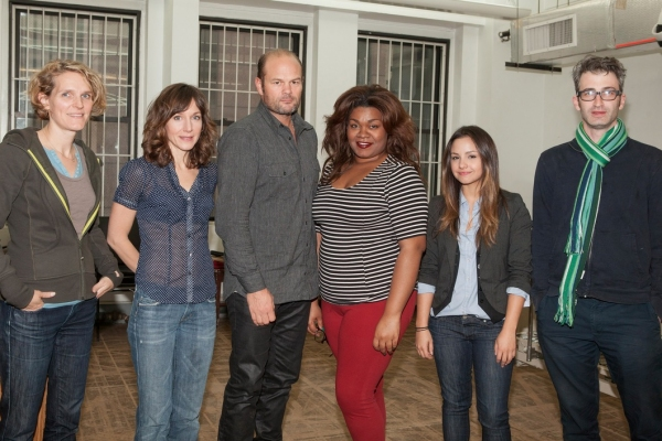 Playwright Melissa James Gibson, Seana Kofoed, Chris Bauer, Da'Vine Joy Randolph, Aimee Carrero and director Daniel Aukin