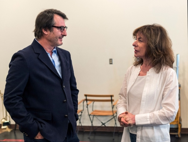 Playwright Jon Robin Baitz and cast member Jeannie Berlin at In Rehearsal with Jon Robin Baitz's OTHER DESERT CITIES at CTG's Mark Taper Forum