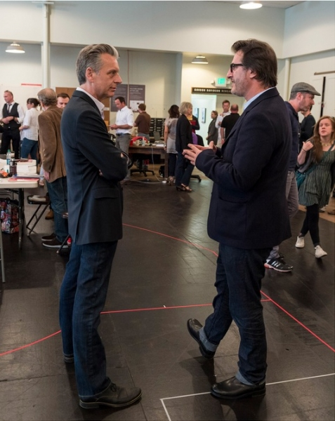 Center Theatre Group Artistic Director Michael Ritchie and playwright Jon Robin Baitz at In Rehearsal with Jon Robin Baitz's OTHER DESERT CITIES at CTG's Mark Taper Forum