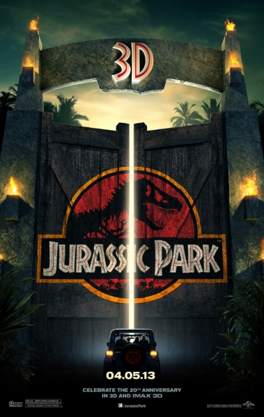Photo Flash: First Poster for JURASSIC PARK 3D Released