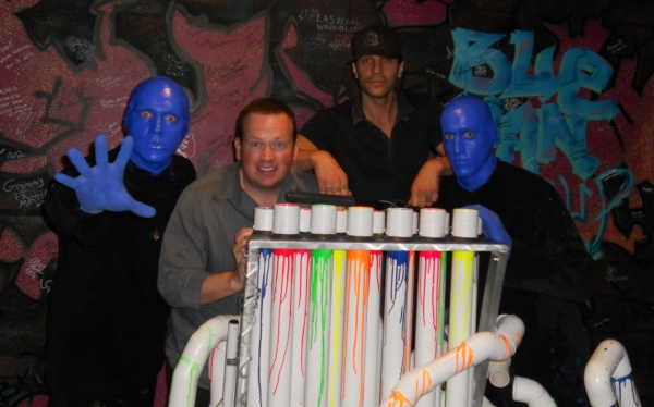 Photo Flash: Magicians Criss Angel and Nathan Burton at Blue Man Group in Las Vegas