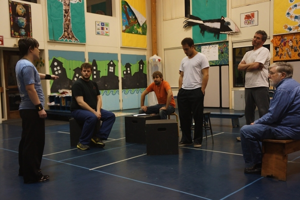 Photo Flash: Sneak Peek at Rehearsals for Moonbox's OF MICE AND MEN