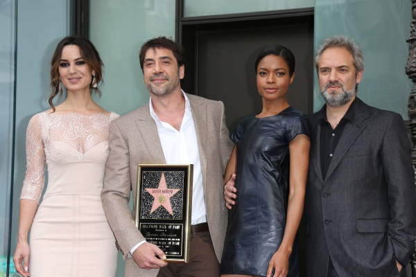 Berenice Marlohe, Javier Bardem, Naomie Harris and Sam Mendes at Javier Bardem Honored With Star on Hollywood Walk of Fame