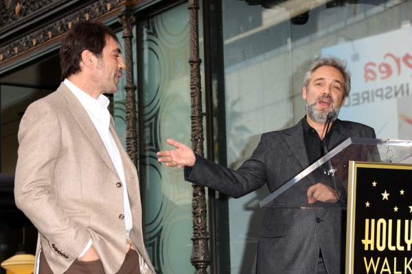 Javier Bardem and Sam Mendes