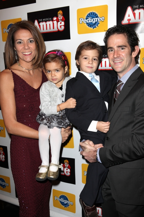 High Res Andy Blankenbuehler with wife Elly & Kids