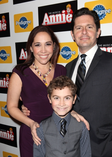 Andrea Burns, Peter Flynn & son