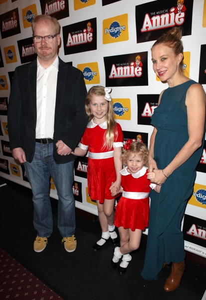 Jim Gaffigan and Jeannie Gaffigan with daughters (Kate and Marre) Photo