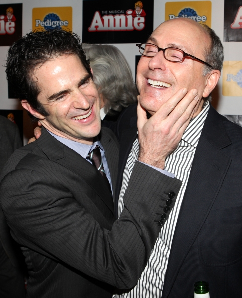 Andy Blankenbuehler & James Lapine at Inside Opening Night of ANNIE with Anthony Warlow, Lilla Crawford, Katie Finneran and More!