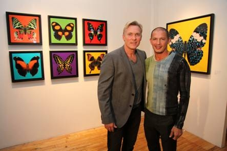 Sam Champion and Rubem Robierb at Sam Champion, Lara Spencer and Josh Elliot Host Rubem Robierb's 'Bullet-Fly Effect Art Show'