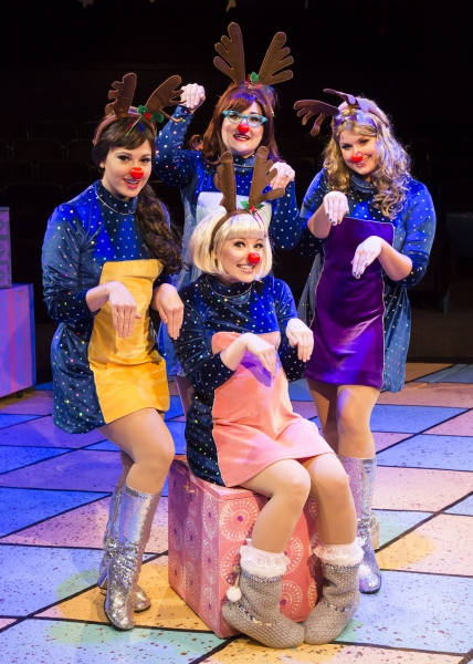 Stages Repertory Theatre - 2012 production of WINTER WONDERETTES. L to R: Rachael Log Photo