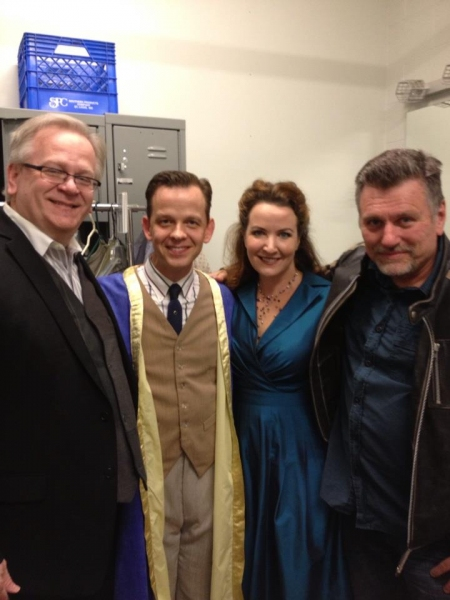 Jeffrey Ellis, Clay Steakley, Vali Forrister and directorplaywright Bill Feehely.