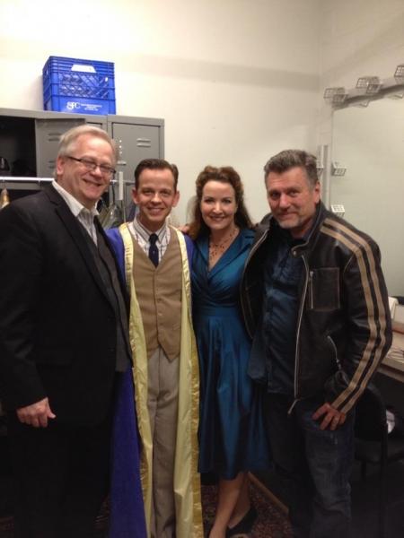 Jeffrey Ellis, Clay Steakley, Vali Forrister and directorplaywright Bill Feehely. Photo