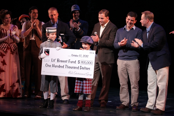 Ethan Khusidman & Zachary Unger with check presentation to Christopher Horgan, Jonathan Ziegler and Timothy Carroll from The Lil' Bravest INC Charity