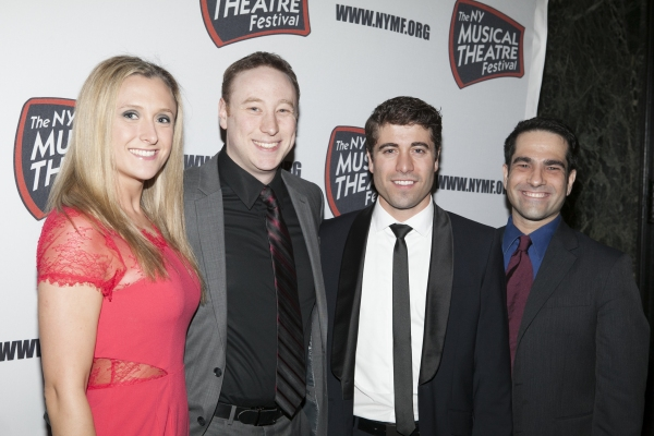 Brett M. Boles and his Wife, Omar Lopez-Cepero and Stephen Nachamie at NYMF Gala Honors Kelli O'Hara!