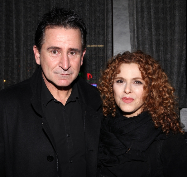 Anthony LaPaglia & Bernadette Peters at CHECKERS Cast Celebrates Opening Night