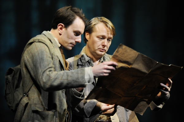 Pip Carter (Edward Thomas) and Shaun Dooley (Robert Frost)