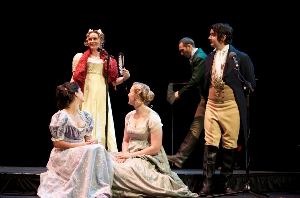 Cerris Morgan-Moyer, Nick Toren (back), Chloe Dworkin, Julia McIlvaine and Darren Richardson (front)