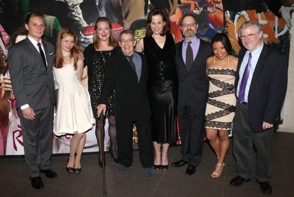 Billy Magnussen, Genevieve Angelson, Kristine Nielsen, Nicholas Martin, Sigourney Weaver, David Hyde Pierce, Shalita Grant & Christopher Durang at Inside VANYA AND SONIA AND MASHA AND SPIKE's Opening Night After Party