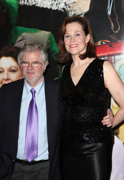 Christopher Durang & Sigourney Weaver at Inside VANYA AND SONIA AND MASHA AND SPIKE's Opening Night After Party