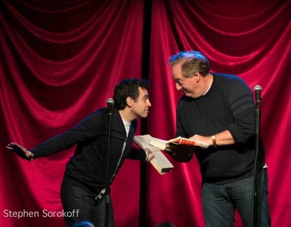 Mario Cantone & Alan Zweibel at Tony Danza, Tovah Feldshuh Visit CELEBRITY AUTOBIOGRAPHY