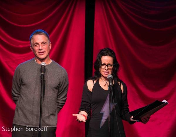 Tony Danza & Janeane Garofalo at Tony Danza, Tovah Feldshuh Visit CELEBRITY AUTOBIOGRAPHY