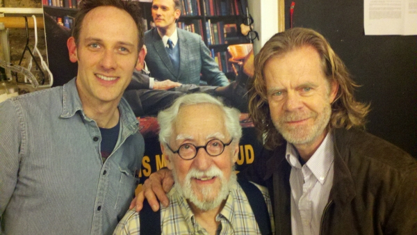 Coburn Goss, Mike Nussbaum and William H. Macy at William H. Macy Attends Final Performance of FREUD'S LAST SESSION